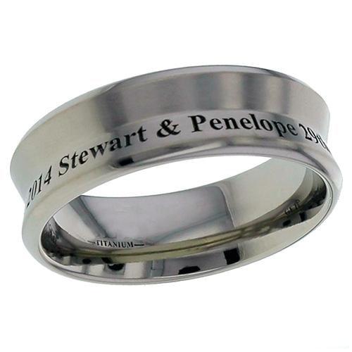 Inverted triangle profile Titanium ring