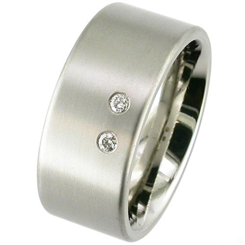 Flat profile Titanium ring set
