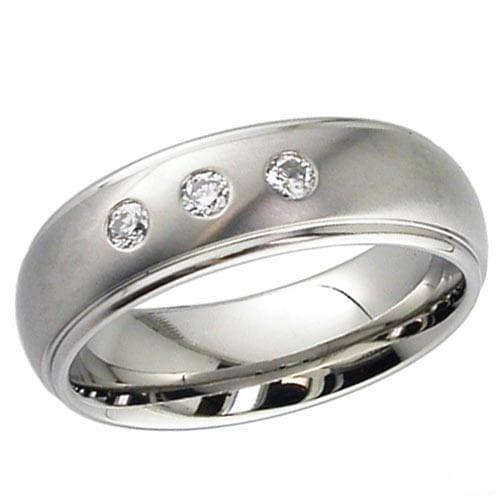 Dome profile Titanium Ring