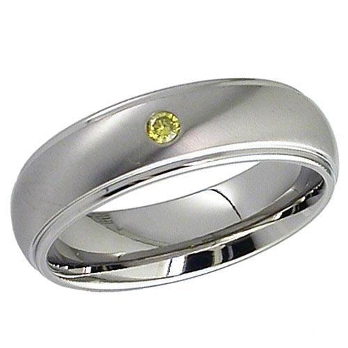 Dome profile Titanium Ring