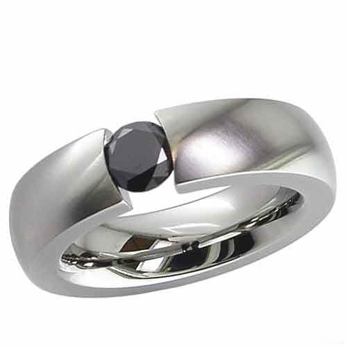 Shallow dome Titanium ring