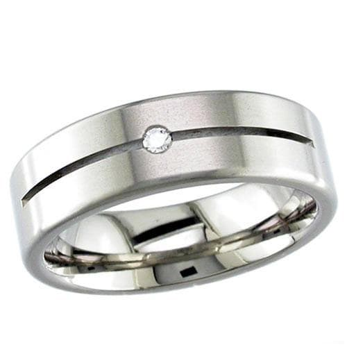Slotted Flat Profile Titanium Ring