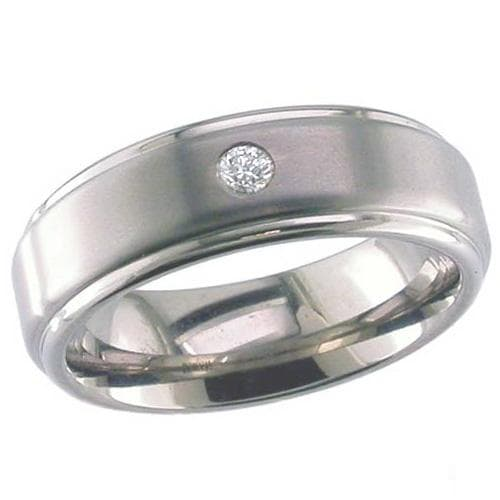 Dome Profile Titanium Ring.