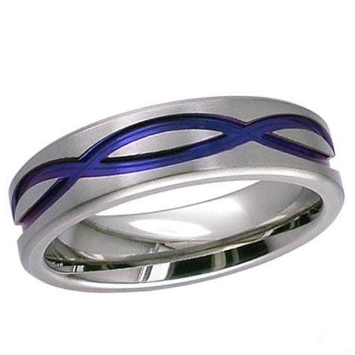 Flat Profile Zirconium Ring