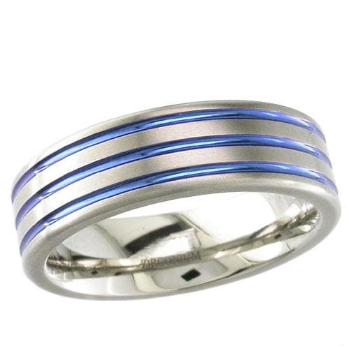 Flat Dome Zirconium Ring