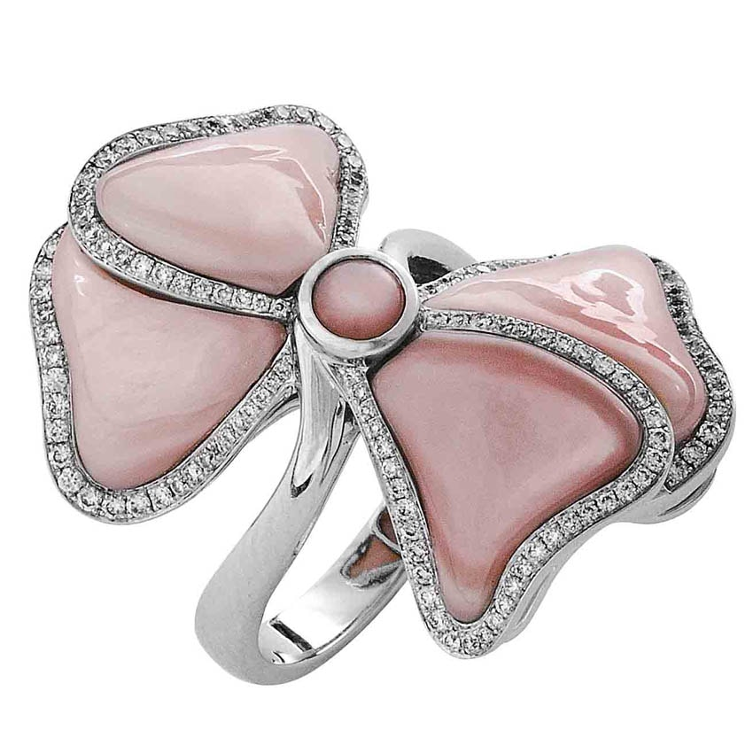 Pink Mother Of Pearls Ring