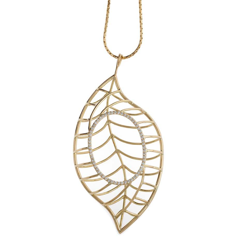 Ash leaf pendant