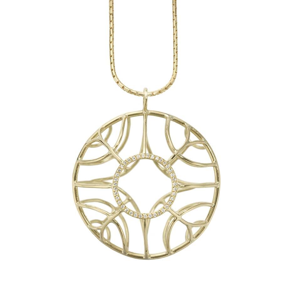 Circular pod pendant
