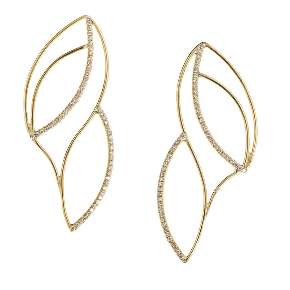 Frost stud earrings
