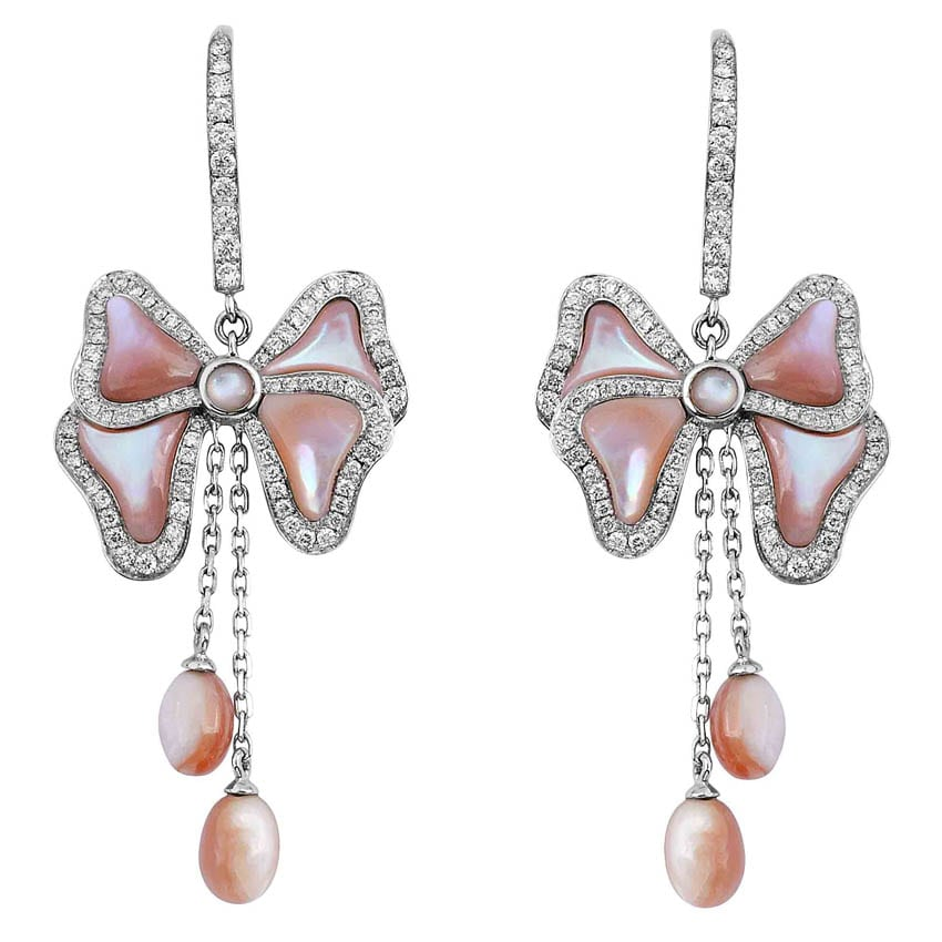 Pink Mother Of Pearls Earrings