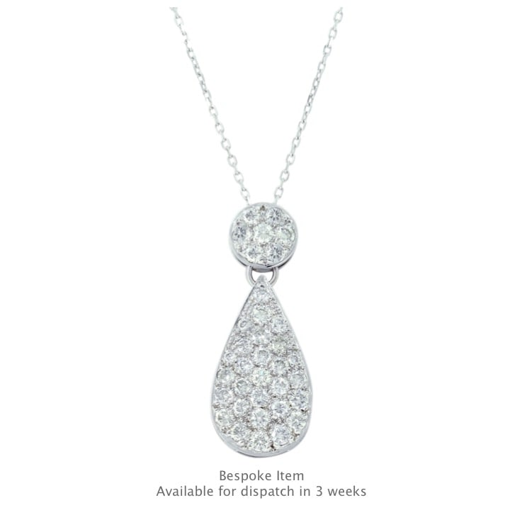 18K White Gold and Diamond Pendant