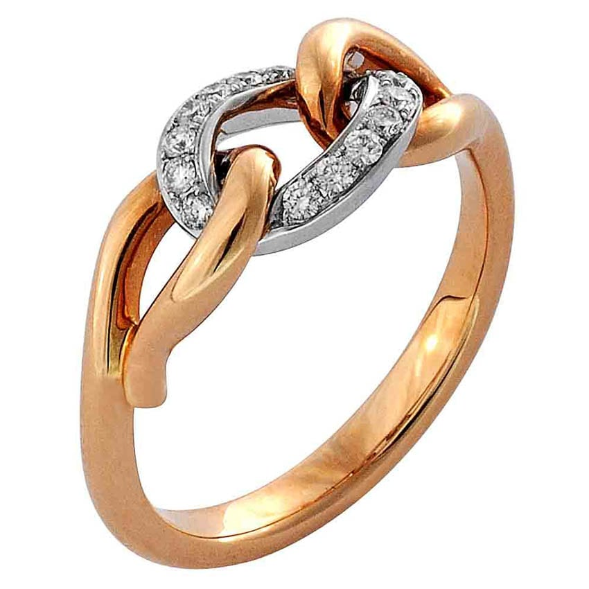 White and Rose Gold Ring