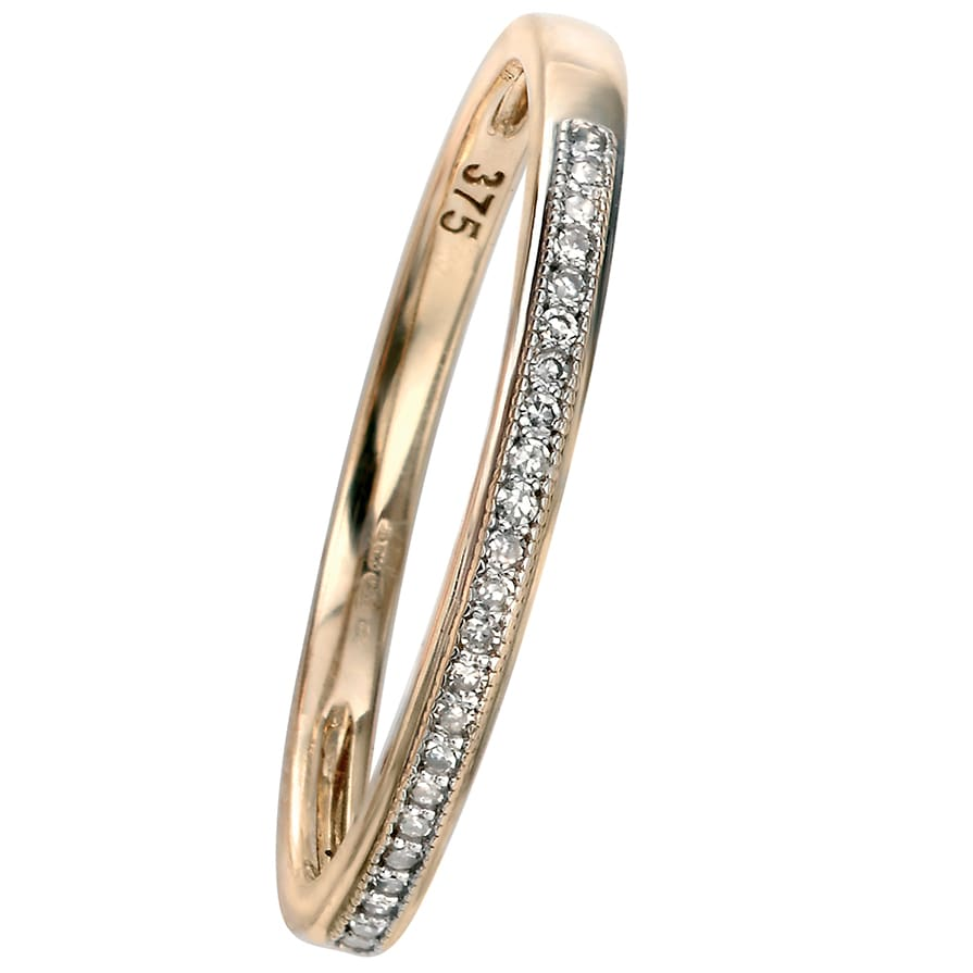 Yellow Gold Pave Stacking Ring