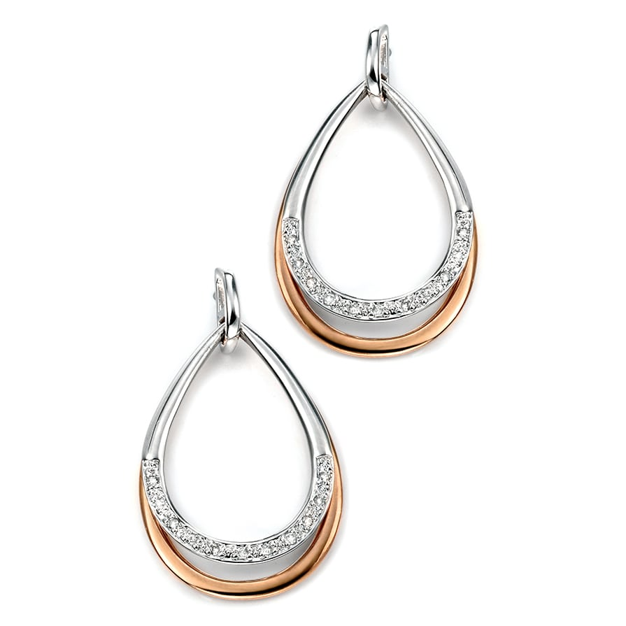 Two Tone Drop Earrings