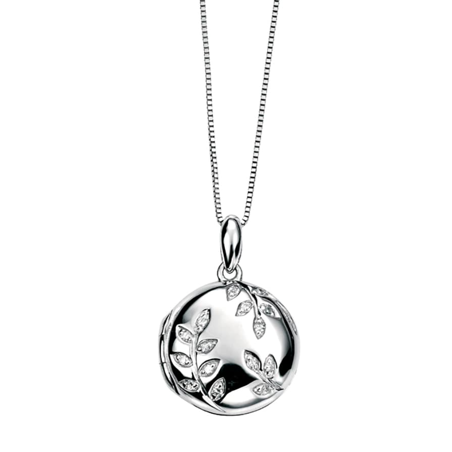 Diamond Leaf Locket
