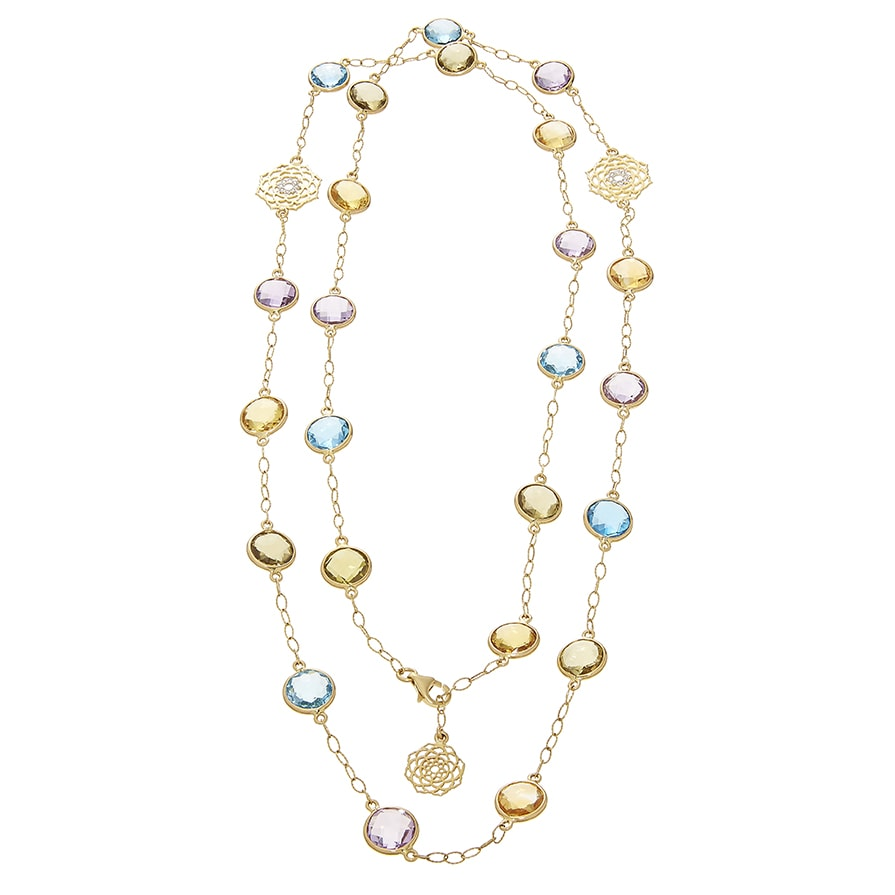 Multicoloured Semi-Precious Stone Necklace