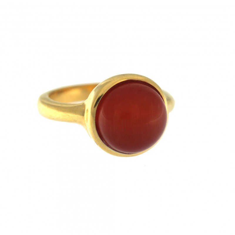 Red Cat Eye Stone Ring