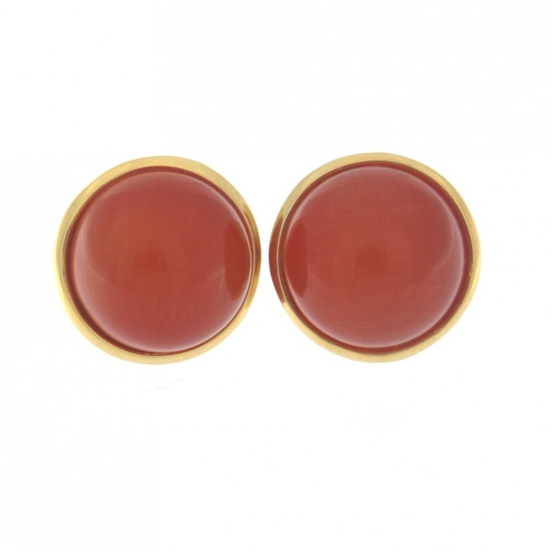 Red Cat Eye Stone Earrings