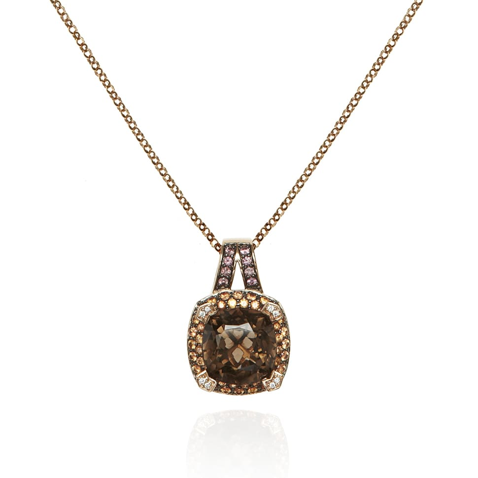 PARAGON Rose Gold Smoky Quartz Necklace