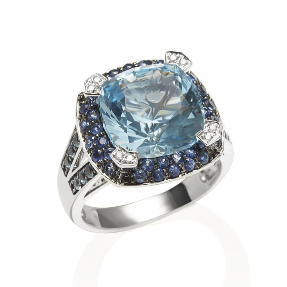 PARAGON  Blue Topaz and Blue Sapphire Ring