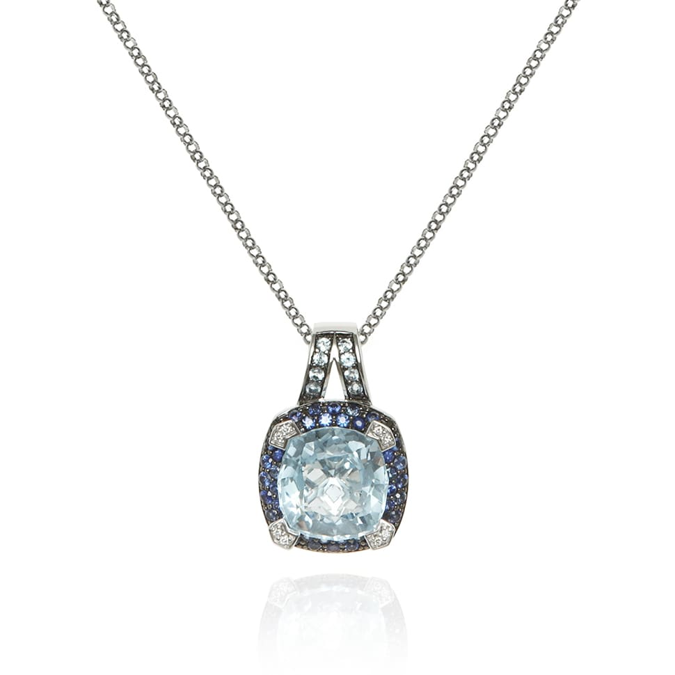 PARAGON Blue Topaz and Blue Sapphire Necklace