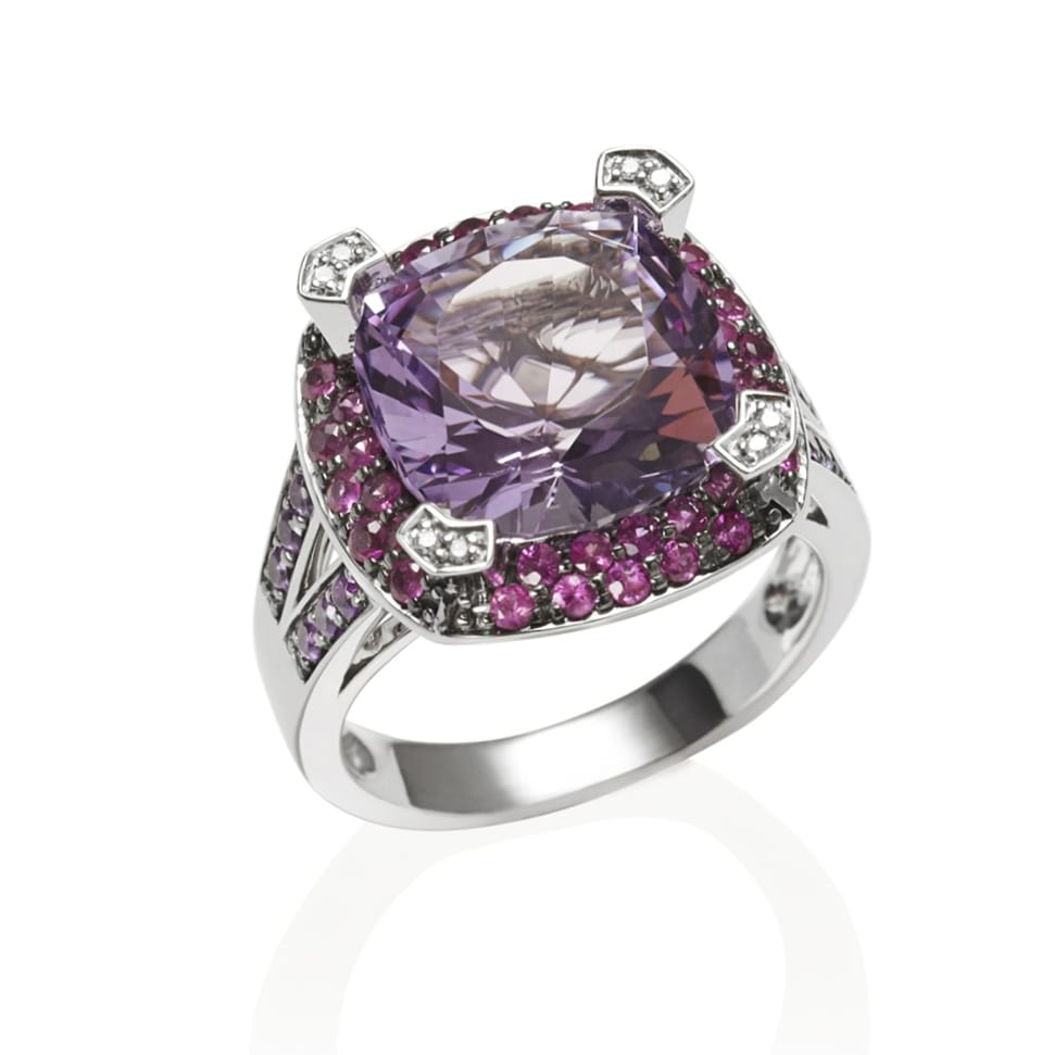 PARAGON White Gold Amethyst Ring