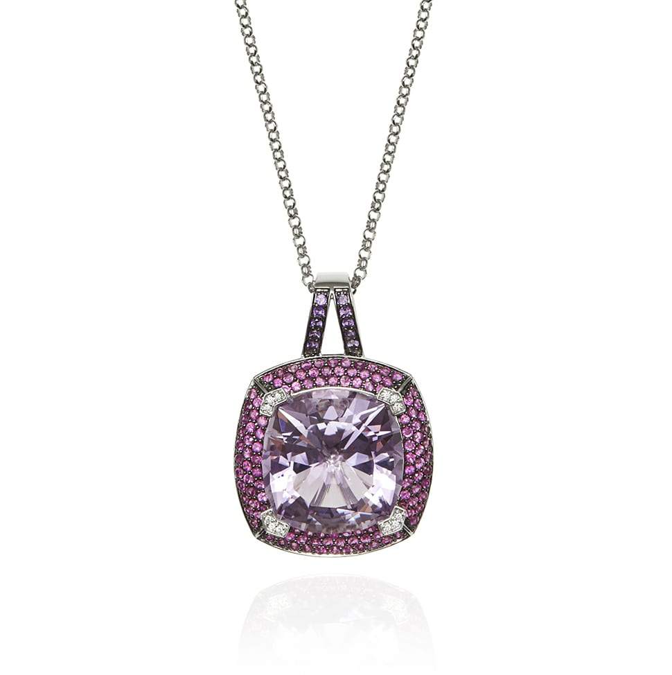 PARAGON White Gold Amethyst Necklace