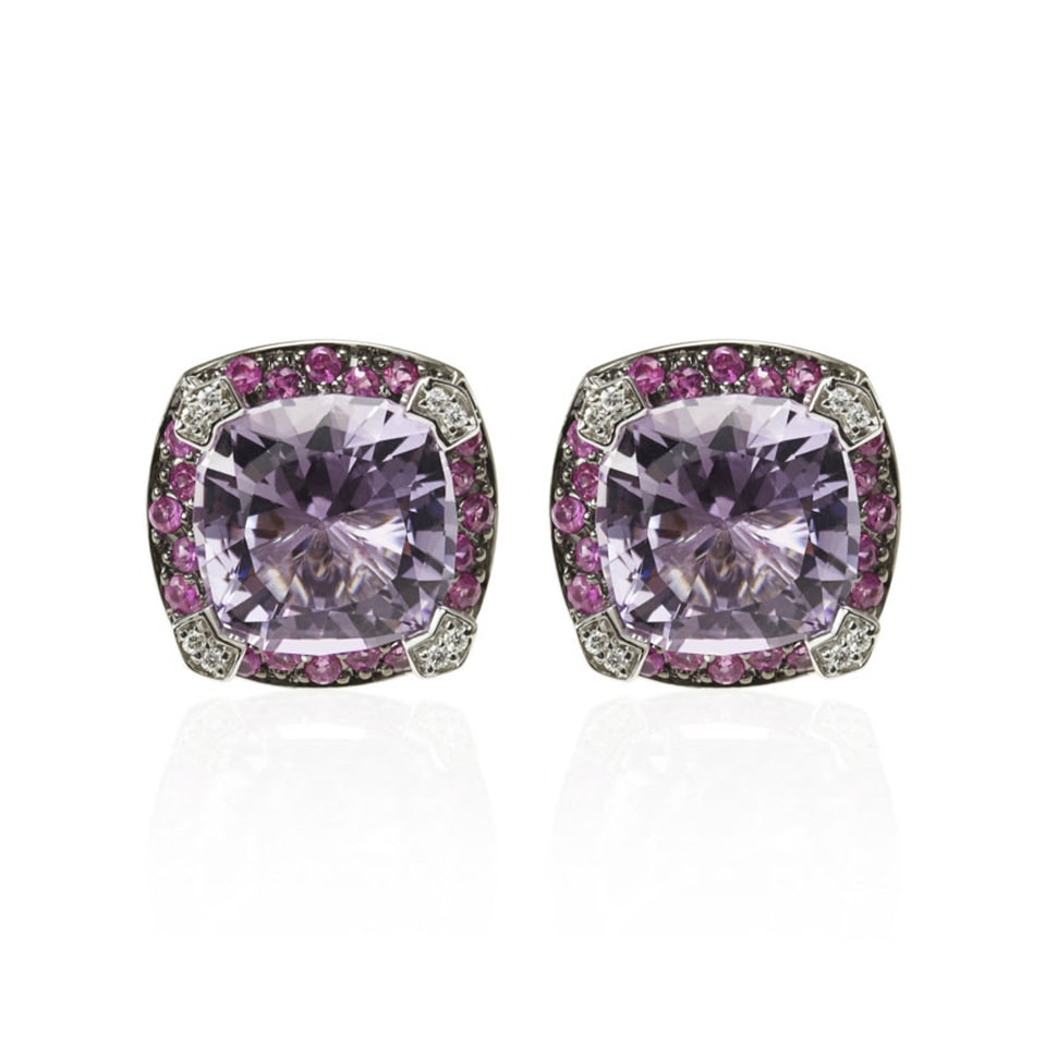 PARAGON White Gold Amethyst Earrings