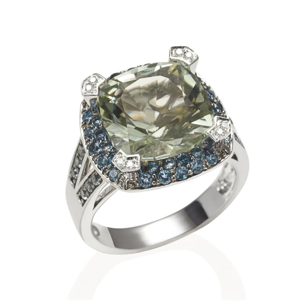 PARAGON White Gold Prasiolite Ring