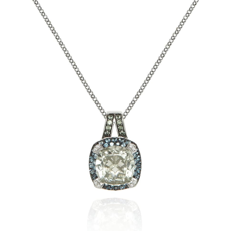 PARAGON White Gold Prasiolite Necklace