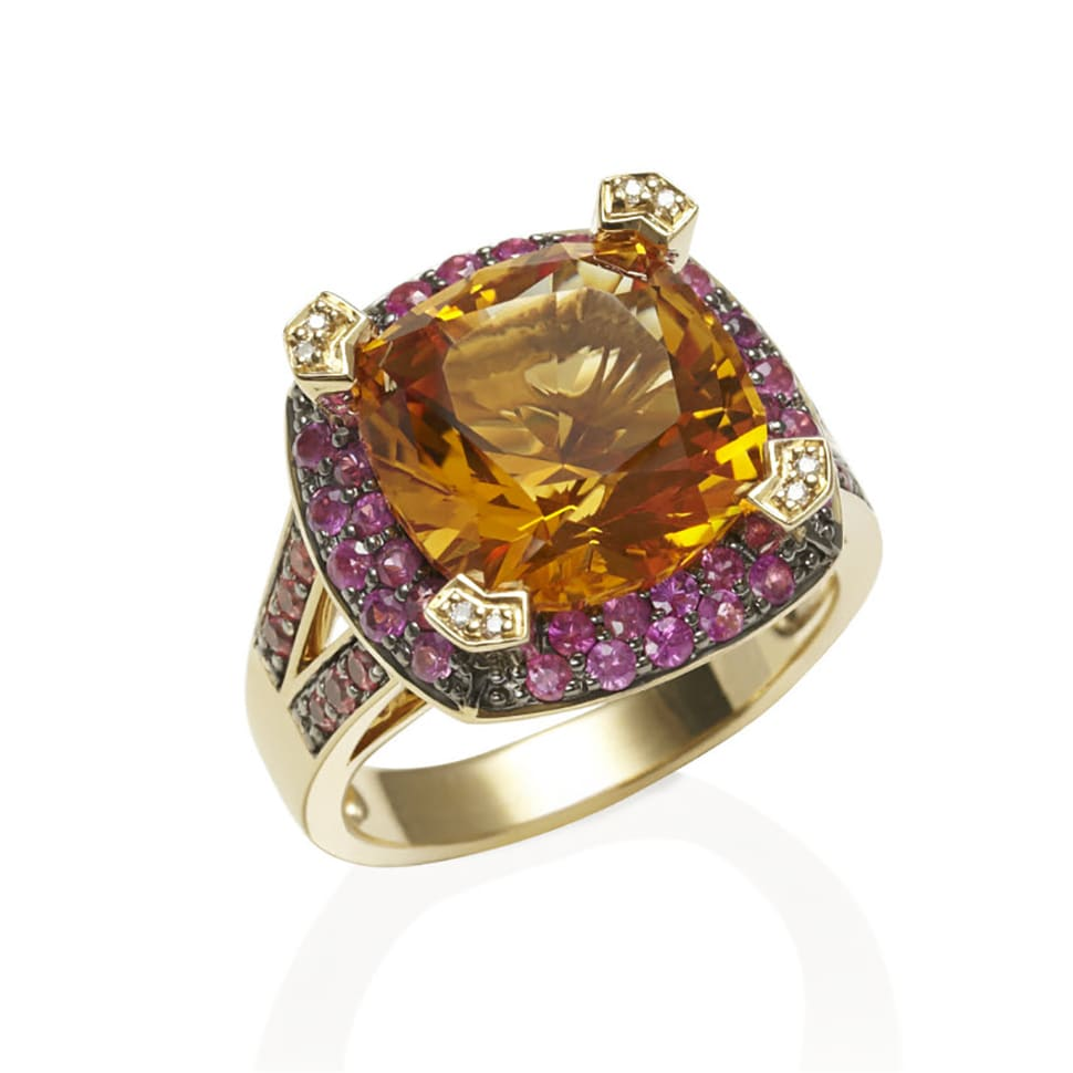PARAGON Yellow Gold Citrine Ring