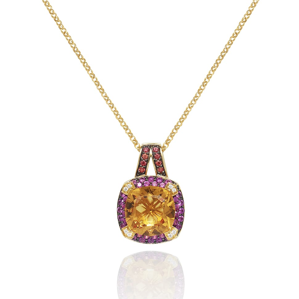 PARAGON Yellow Gold Prasiolite Necklace
