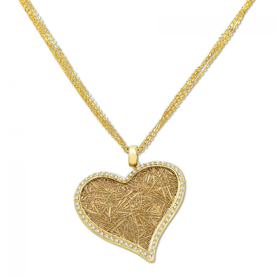 Nude Heart Necklace