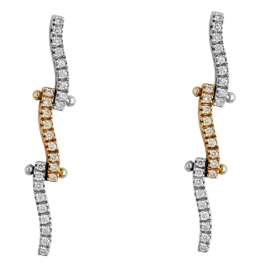 White & Yellow Gold Earrings II