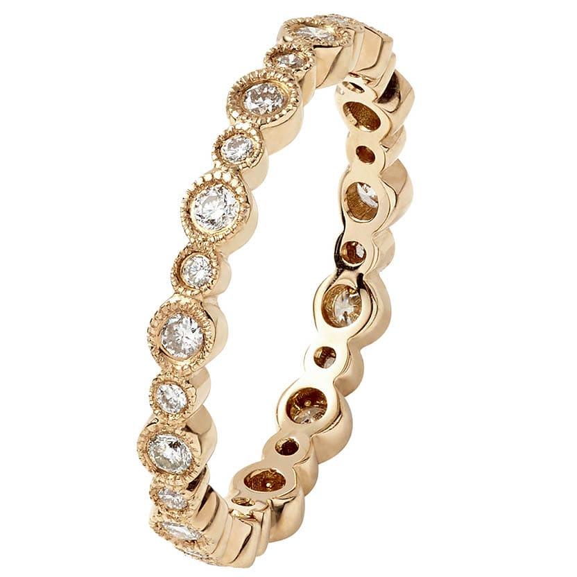 Pink Gold Ring VII