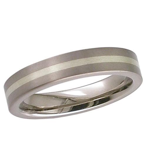 Flat Profile Titanium Ring