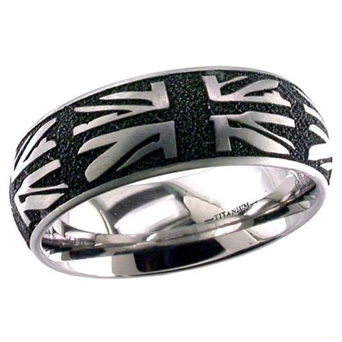 British Flag Titanium ring